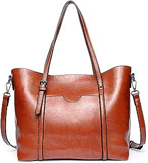 ZZZ Women's Handbag PU Large-Capacity Shoulder Bag Messenger Bag Tote Bag PU Leather Shopping Travel Laptop Bag For Ladies Wallet Storage Bag High Capacity fashion (Color : Yellow)