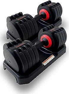 【SWAAG】ダンベル 20kg 2個セット 40kg 可変式 可変式ダンベル ダイヤル 多段階重さ調節可能 (2個セット)…