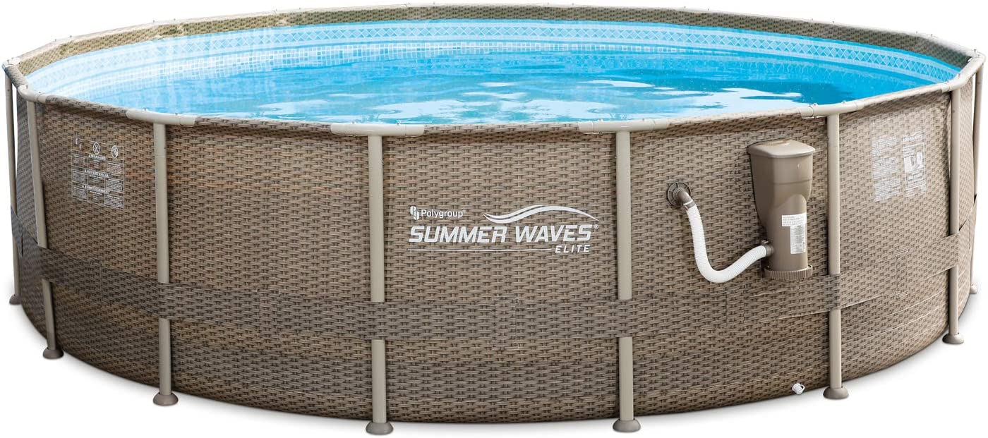 Mail order Summer Waves 16ft x 48in Foot with Pool Elite Wic Swimming Max 81% OFF Frame