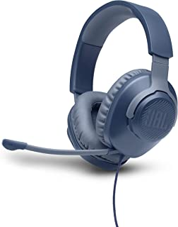JBL Quantum 100 Wired Over-Ear Gaming Headphone, Blue