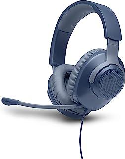 JBL Quantum 100 Auriculares para gamers con sonido QuantumSOUND, micrófono Boom y, diseño ligero y cómodo a la par que lla...