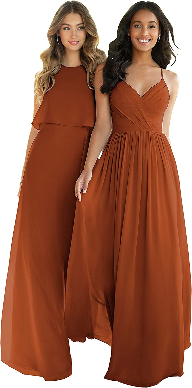 Nicefashion Women's Empire Max 86% OFF A Line Chiffon Dresses Bridesmaid Lon 2021 new