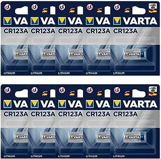 Varta CR123A professionellt batteri (10-pack, fotobatteri litiumjon för högteknologiska kameror och blixtar eller övervakn...