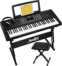 Moukey MEK-200 Electric Keyboard Portable Piano Keyboard Mus
