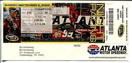 Pep Boys 500 NASCAR Race Ticket Stub 9/6/2009-Atlanta Motor Speedway-VG
