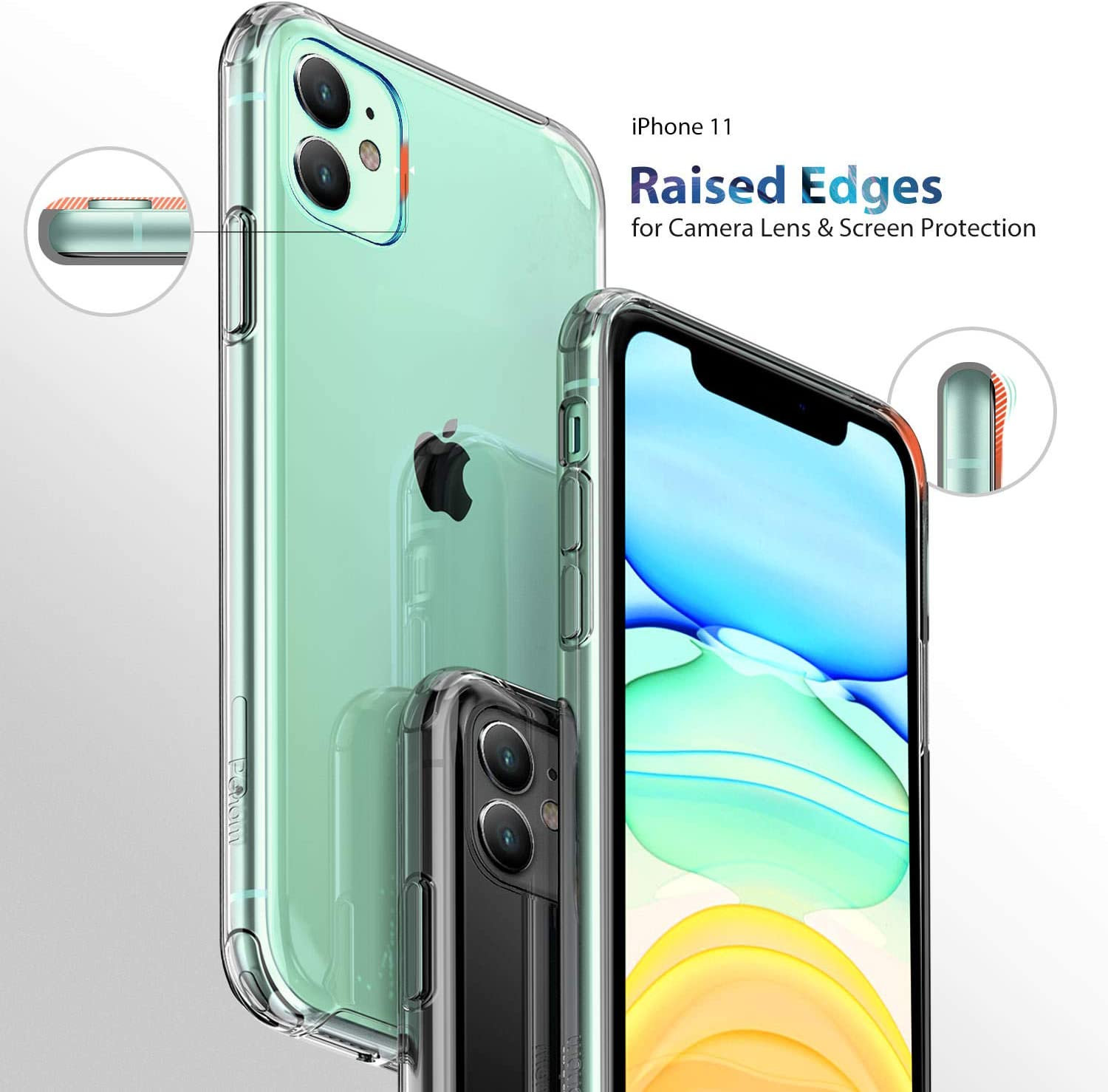 Buy UIYTRAESTING Compatible with iPhone 11 Case, Clear iPhone 11 Cases  Cover for iPhone11 6.1 Inch Online in Turkey. B07WRC5JBJ