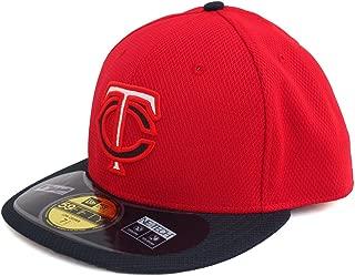 New Era(ニューエラ) MLB ミネソタ・ツインズ オーセンティック ロークラウン ダイアモンド エラ 59FIFTY キャップ (ロード)