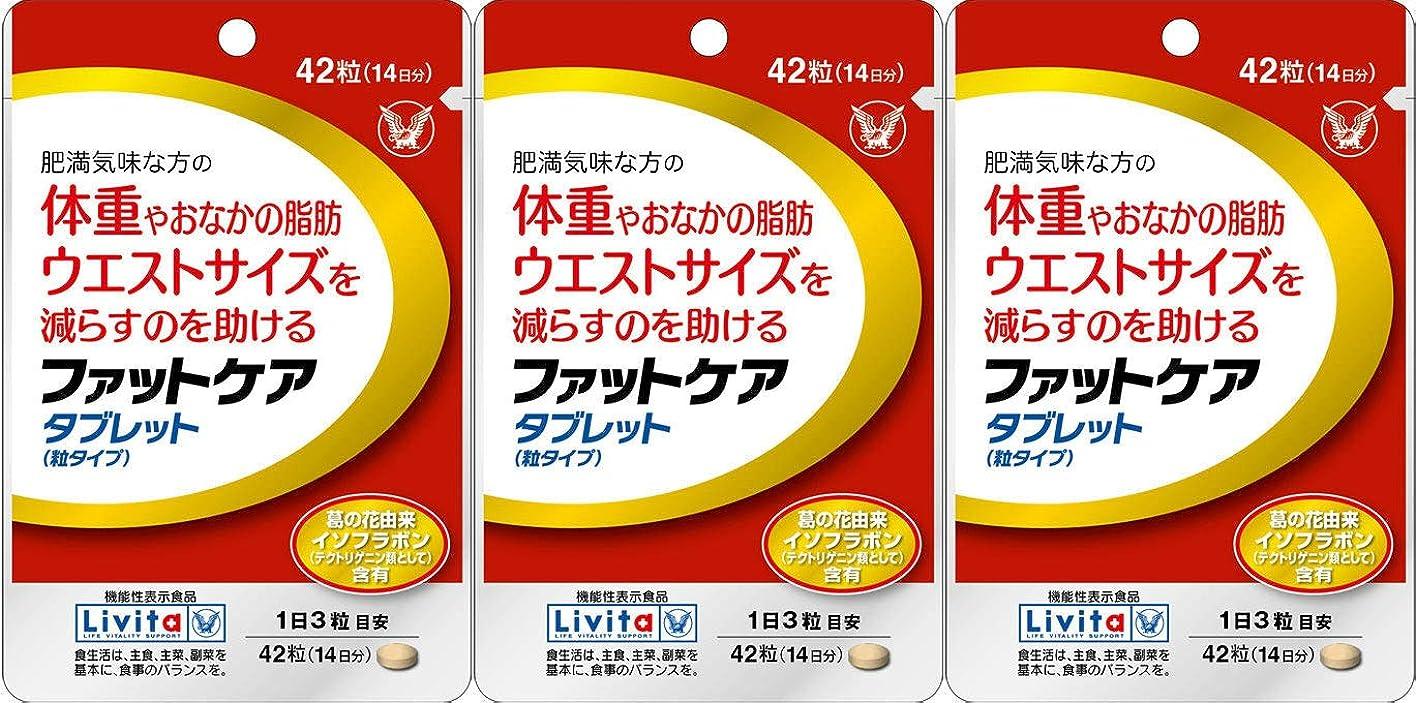 スティック理想的には持続する【3個セット】ファットケア タブレット 42粒(機能性表示食品)