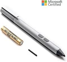 Surface Pen 4096 Pressure Sensitivity Aluminium Body, 2 Soft Nibs for Surface 3/4/5/6, Surface Pro 3/ Pro 4/Pro 6/Pro(2017), Surface Book, Surface Laptop/Studio (Silver)