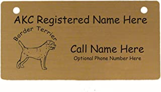 C1896 Border Terrier Crate Tag Personalized with Your Dog's Name