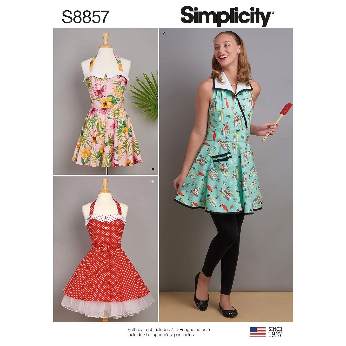 Simplicity US8857A Pattern S8857 Misses' Aprons, A (A (S-M-L)