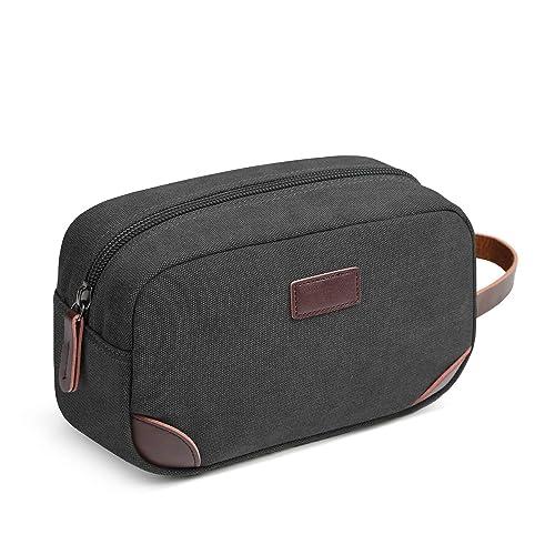 Domila Travel Toiletry Bag Portable Overnight Wash Gym Shaving Bag for Men or Women (Black)