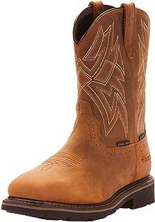 Men's Everett Wide Square Toe Waterproof Steel Toe Work Boot