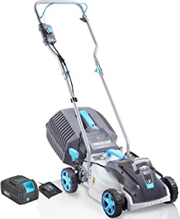 Swift 40V Brushless Cordless Lawnmower 38cm Digital Compact Electric Lawn Mower with Battery and Charger