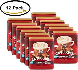PACK OF 12 - Hills Bros Sugar Free Double Mocha Cappuccino Beverage Mix, 12 oz