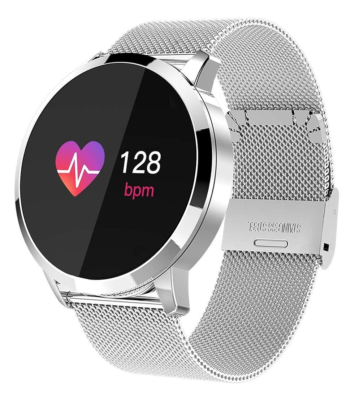 どんよりしたウナギ紳士気取りの、きざなスマートウォッチ スマート腕時計 活動量計 メンズ 心拍計血圧計 血中酸素計 走行距離 歩数計 消費カロリー計測 疲労測定 睡眠モニター LINE通知 電話着信通知 IOS8.0/Android4.4 日本語説明書付き