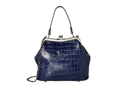 Patricia Nash Laureana Frame Satchel (Navy) Bags