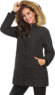 Women Parkas Jacket Faux Fur Hooded Lined Warm Winter Coats