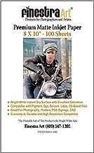 "8"" x 10"" Premium Arctic Matte Inkjet Photo Paper – 100 Sheets"