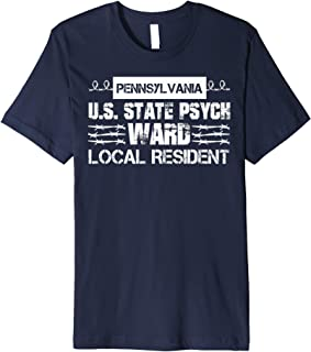 Pennsylvania Inmate Psych Ward County State Jail Halloween Premium T-Shirt