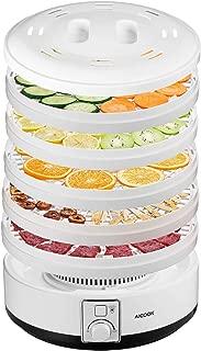 AICOOK Food Dehydrator Machine with Thermostat Preset, 5 BPA-Free Trays Food Dryer for Beef, Jerky, Dog Treats, Fruit, Vegetable & Herb, 500Watt, ETL Listed/FDA Compliant
