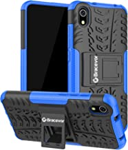 Bracevor Hybrid Back Cover Kickstand Case for Xiaomi Redmi 7A - Blue | Rugged Defender