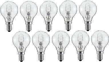 Luminizer 3085 Halogeengloeilamp, G45, E14, 28W = 34W, dimbaar, warm wit, 10 stuks