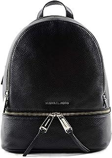Michael Kors Rhea Leather Fashion Backpack - Black