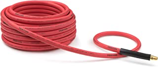 TEKTON 46337 3/8-Inch I.D. by 50-Foot 250 PSI  Rubber Air Hose with 1/4-Inch MPT Ends and Bend Restrictors