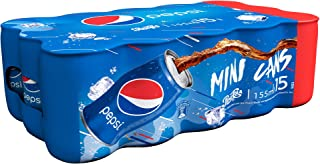 Pepsi Carbonated Soft Drink, Mini Cans, 15 x 155 ml