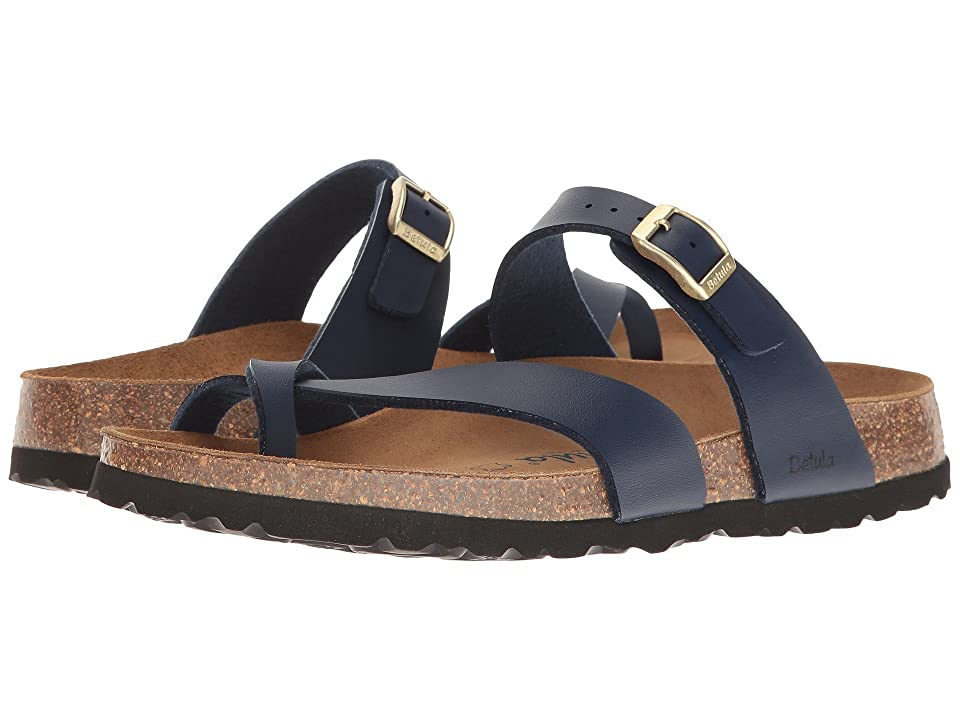 3c34dafb3ccc Betula Licensed by Birkenstock Mia Birko-Flortm (Basic Navy) Women s Shoes