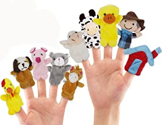 RIY 10Pcs Story Time Finger Puppets - Old Macdonald Had A Farm Educational Puppets