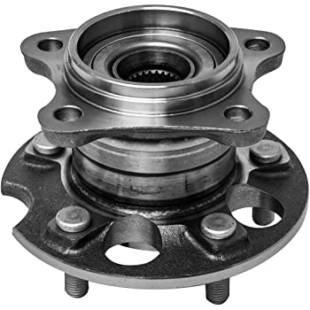 5 Lugs Rear Axle Hub 06-08 RX400H AWD Models 07-09 RX350 09-16 Venza AWD QJZ for Toyota 04-13 Highlander 4WD 2-Pack//Pair AWD 512284 Rear Wheel Bearing and Hub Assembly for Lexus 04-06 RX330