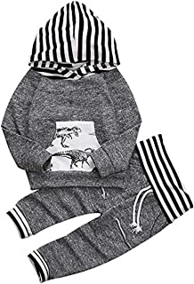 Infant Baby Boy Hoodie Outfit Long Sleeve Sweatsuit Pant Set Fall Clothes Winter Clothes Set