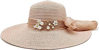 قبعة شمس متعددة الألوان قابلة للطي للنساء والفتيات والإكسسوارات، شاطئ الصيف، الأنشطة في الهواء الطلق زهري فاتح Large