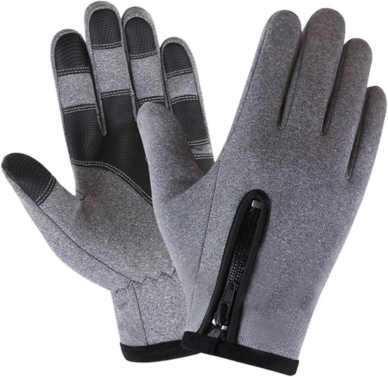 linyma Warm Fleece Windproof Waterproof Antiskid Outdoor Sports Zipper Gloves Snow Gloves Ski Gloves 21FE