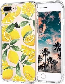 iPhone 8 Plus Case, iPhone 7 Plus Case, MOSNOVO Lemon Clear Design Transparent Printed Plastic Hard Back Case with TPU Bumper Protective Case Cover for Apple iPhone 7 Plus/iPhone 8 Plus