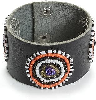 Omaqa Maasai Beaded Leather Cuff