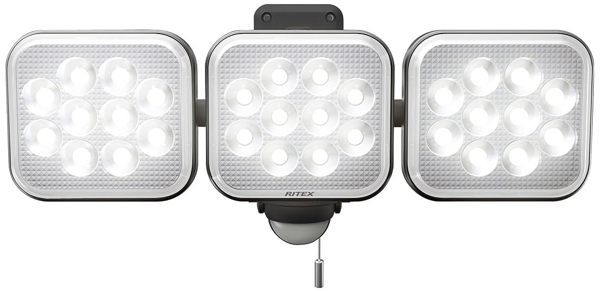 ピルファーセットアップ追い出すムサシ RITEX フリーアーム式LEDセンサーライト(12W×3灯) 「コンセント式」 防雨型 LED-AC3036