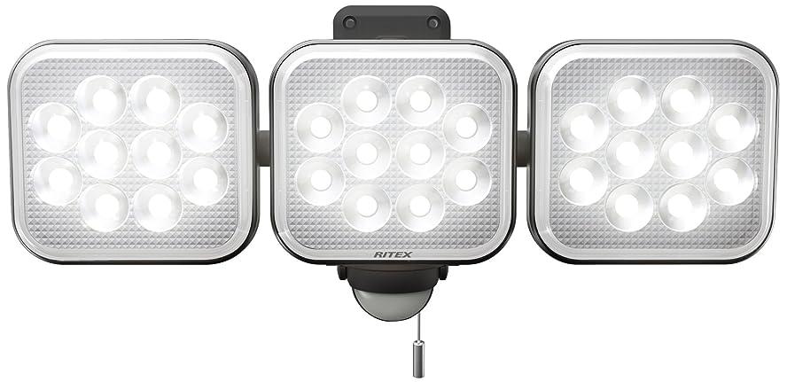 オーナー飢自分の力ですべてをするムサシ RITEX フリーアーム式LEDセンサーライト(12W×3灯) 「コンセント式」 防雨型 LED-AC3036