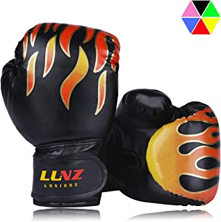 Luniquz Kids Boxing Gloves, Child Punching Gloves for Punch Bag Training, 4 OZ 6 OZ Fit 3 to 14 YR