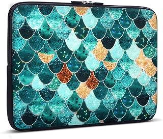 Holilife Laptop Sleeve Mermaid Scale, Neoprene Elegant Protective Notebook Bag Carrying Bag Compatible 13-13.3 inch MacBook Air/MacBook Pro/Ultrabook Netbook Tablet