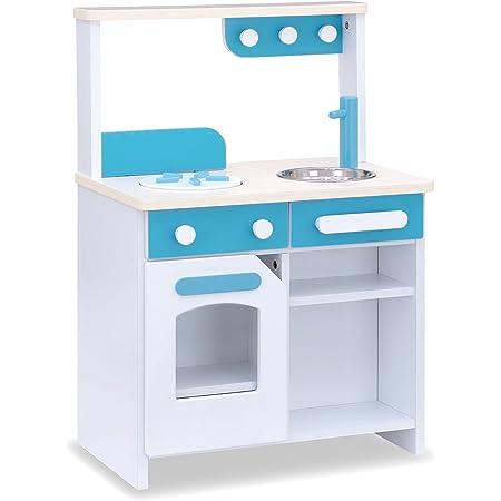 お店屋さんごっこ ままごとキッチン 木製 リバーシブル Cook&store core コア (ノーマル, ブルー)