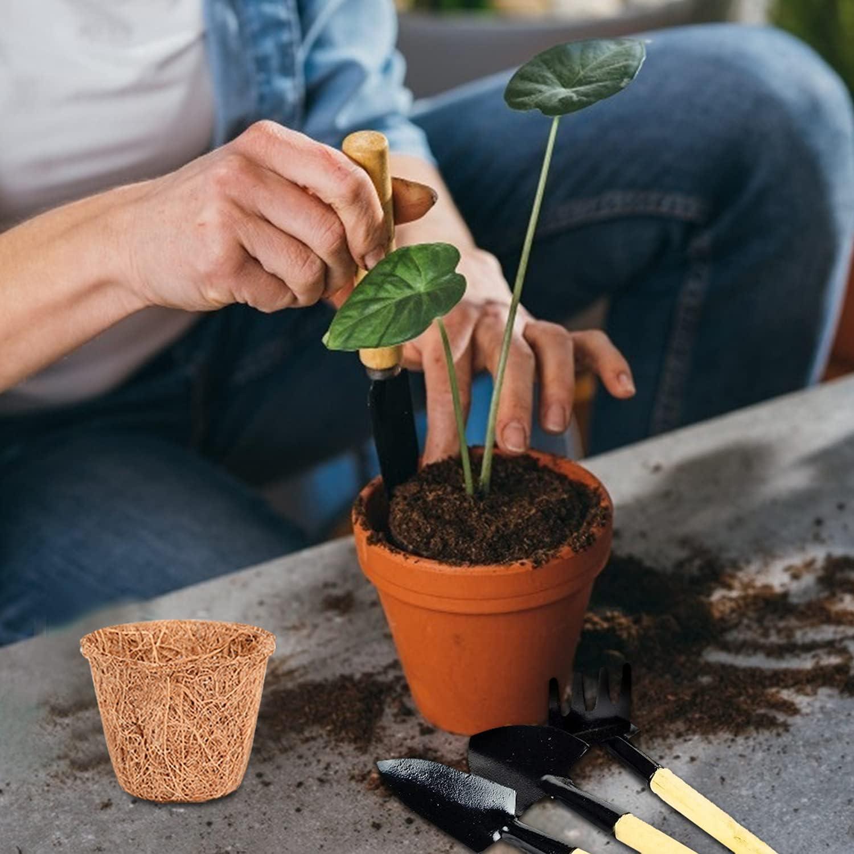 Pot de graines Plantes Pots de tourbe Semis en Fibre pour Plantes L/égumes Fleur Pots Biod/égradables avec /Étiquettes Herefun Kit de Pots de Semis Fibres Outils de jardin A