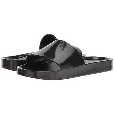 Mini Melissa Mel Beach Slide (Little Kid/Big Kid) (Black) Girls Shoes