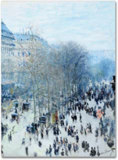 Boulevard Des Capucines by Monet, 18x24-Inch Canvas Wall Art