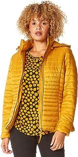 Roman Originals Parka acolchada con capucha para mujer, chaqueta con capucha oculta para otoño e invierno, bolsillo fronta...