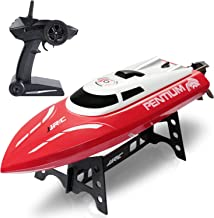 ANTAPRCIS 25km/h RC Boat, 2.4GHz 180° Flip Remote Control Race Boat for Pool Lake Boy Adult, Red