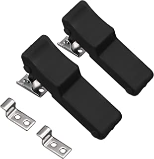 2 Packs Flexible Rubber Draw Latch, Front Storage Rack Rubber Latch Over Center Thermoplastic Elastomer Boat Latch for Cooler, Boat Compartment Cargo Box with Stainless Steel Keeper and Bracket