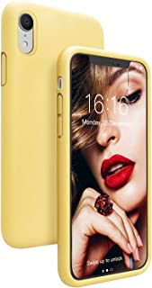 Sponsored Ad - JASBON Case for iPhone XR, Soft Liquid Silicone iPhone XR Case with Raised Edges Cover for iPhone XR-Yellow
